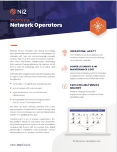 Datasheet Network Operator